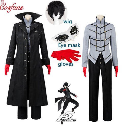 Cosplay Costume Persona 5 Cosplay Costume Joker Anime Cosplay Costume Halloween Full Set Uniform For Party Custom Made and wig