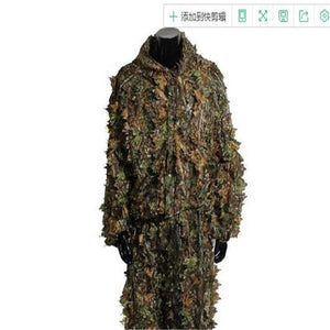 BOOCRE Game PUBG Cosplay Ghillie Suit 3D Leaves Camouflage Clothing Clothes Pants Hunting Clothing