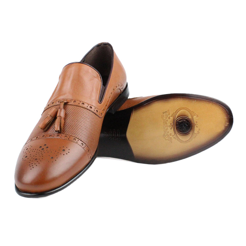 Brown Men Leather Classic Shoes - 12.011.19