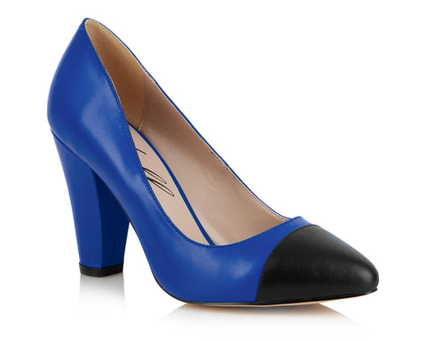 Beaulieu Court Shoe - Blue-Black