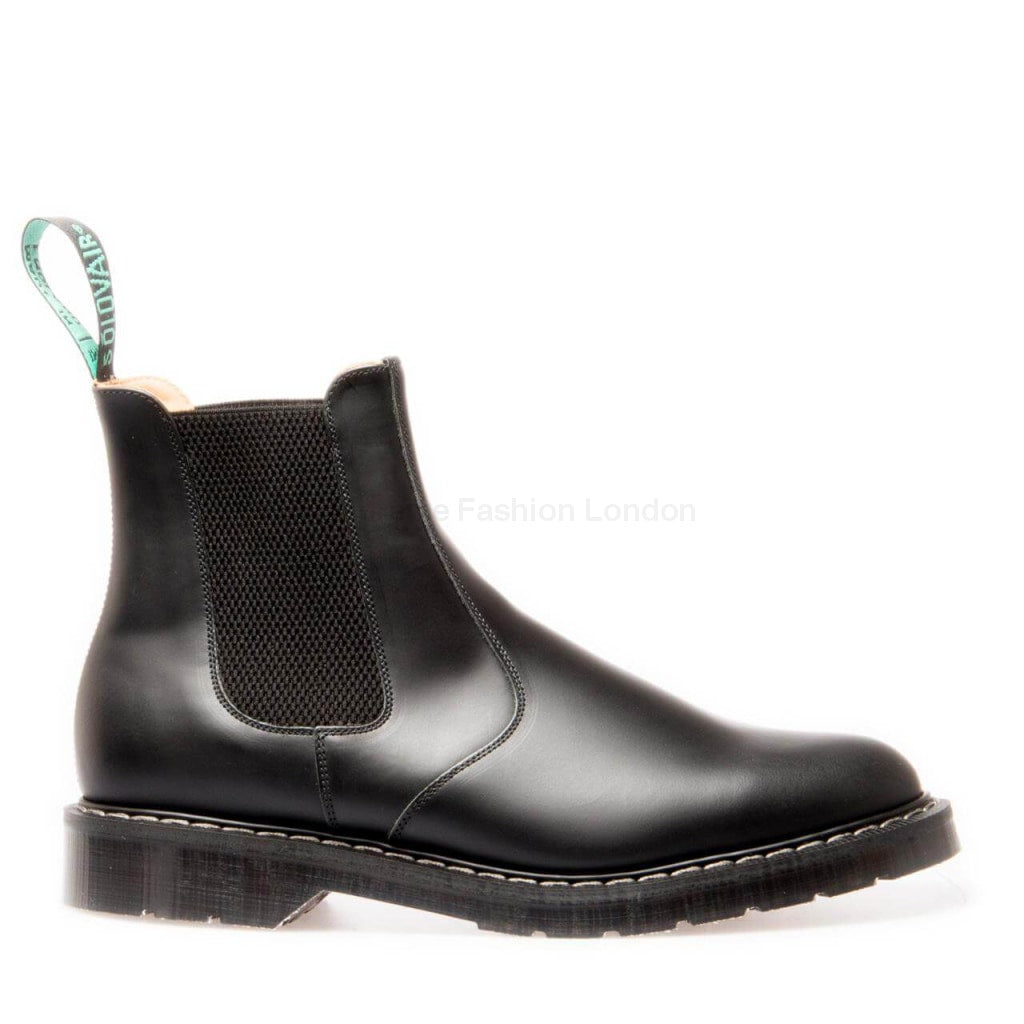 Black Hi-Shine Dealer Boot Mens Boots