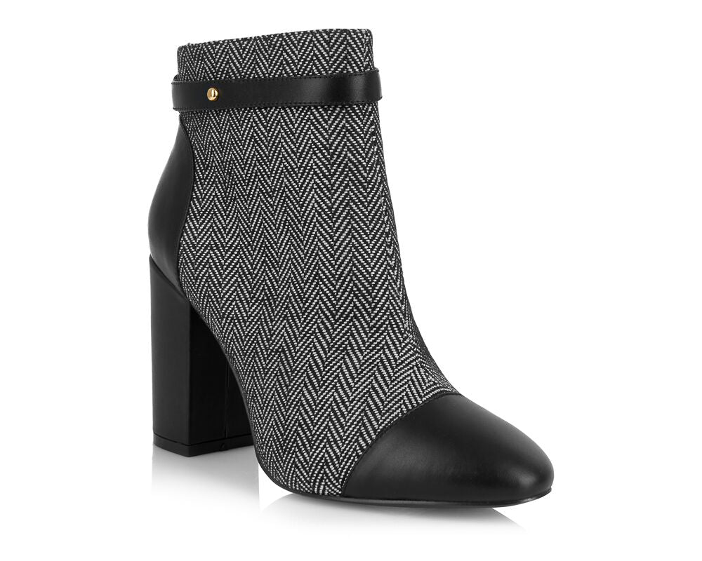 Chester Grey Block Heel Boot