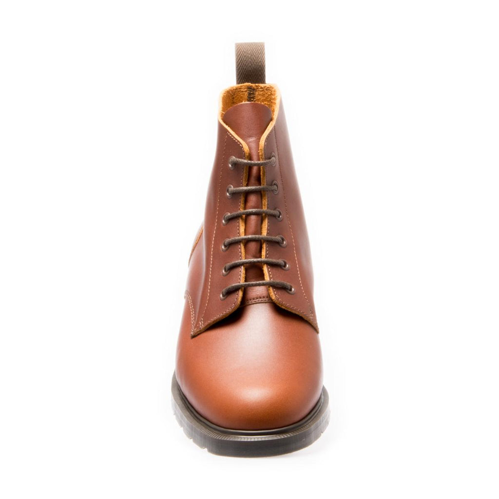Chestnut Derby Boot- Brown Sole