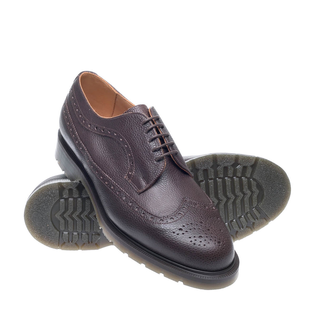Brown Scotch Grain American Brogue Shoe