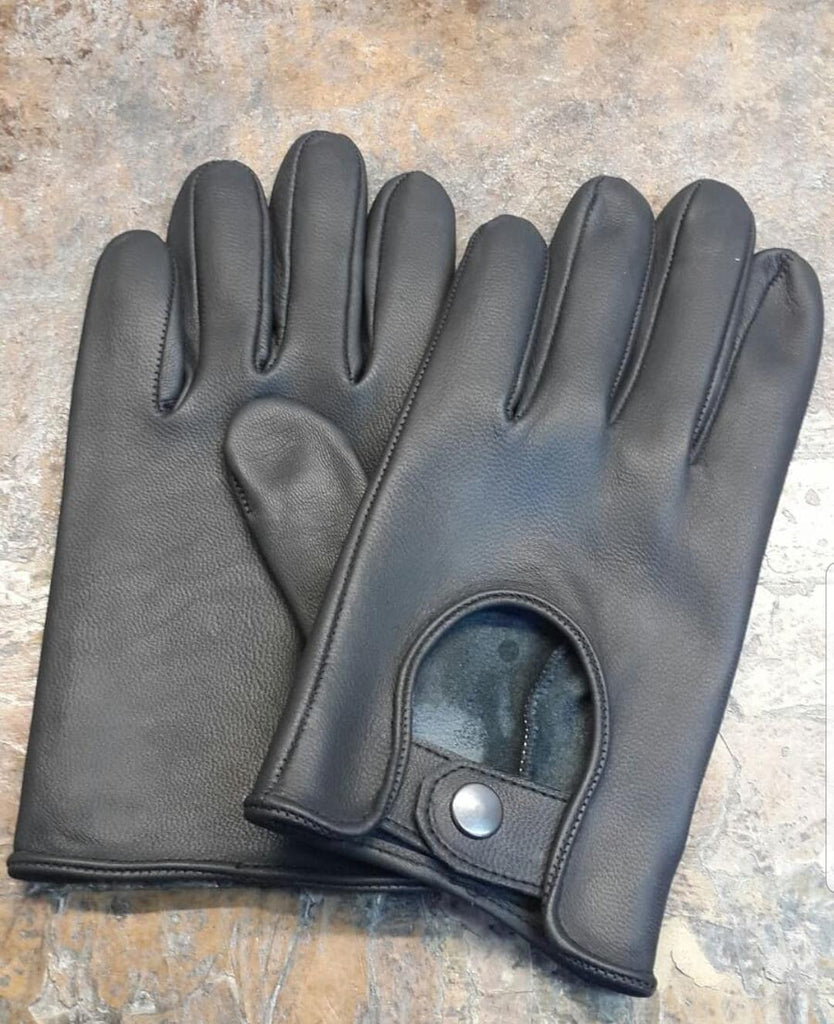 Black Men Leather Gloves - 96.031.17