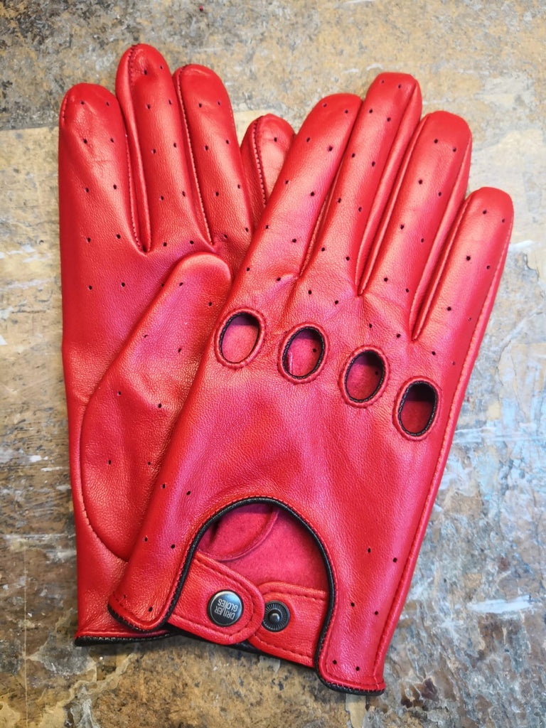 Red Women Leather Gloves - 96.034.10