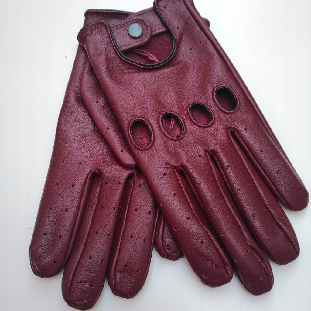 Bordeaux Men Leather Gloves - 96.044.04