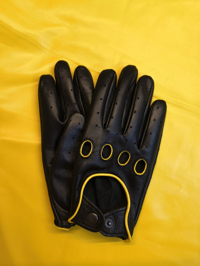 Black Men Leather Gloves - 96.045.17