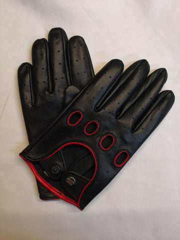 Black Men Leather Gloves - 96.049.17