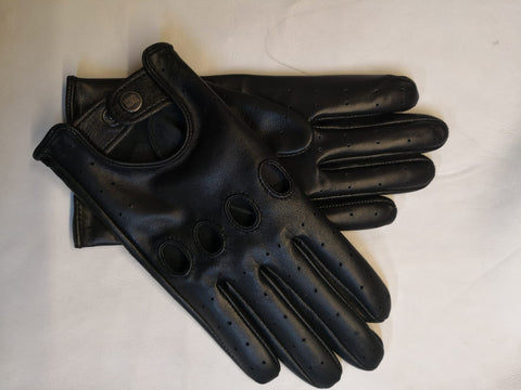Black Men Leather Gloves - 96.050.17