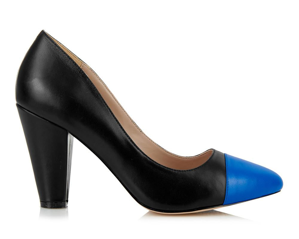Beaulieu Court Shoe - Black-Blue