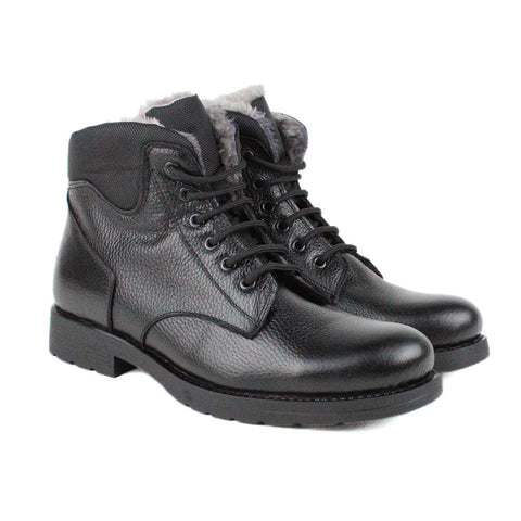 Black Men Leather Boots - 34.023.17