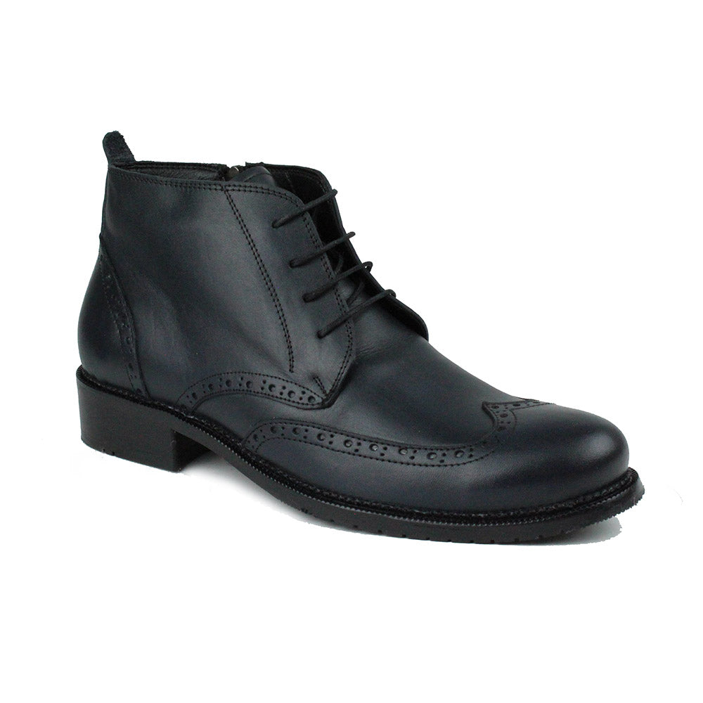 Black Men Leather Boots - 34.022.17