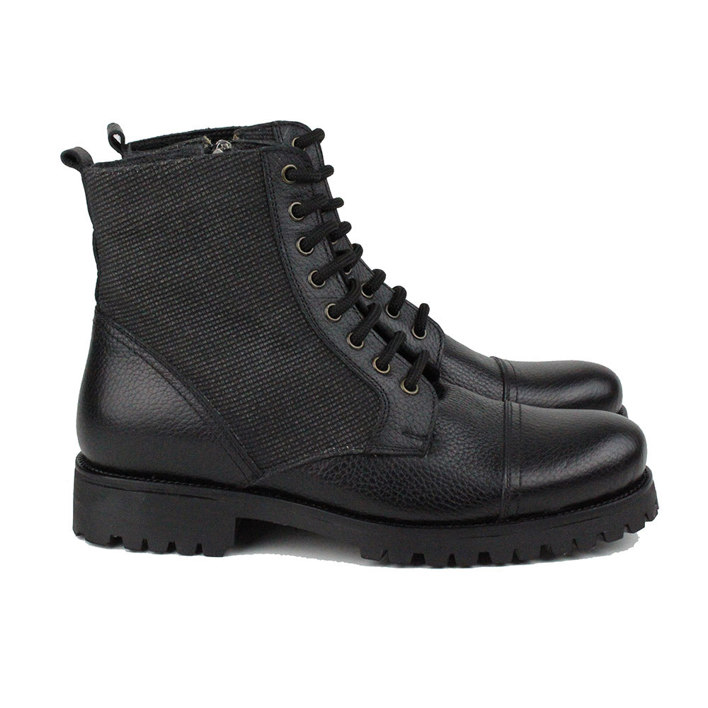Black Men Leather Boots - 34.021.17