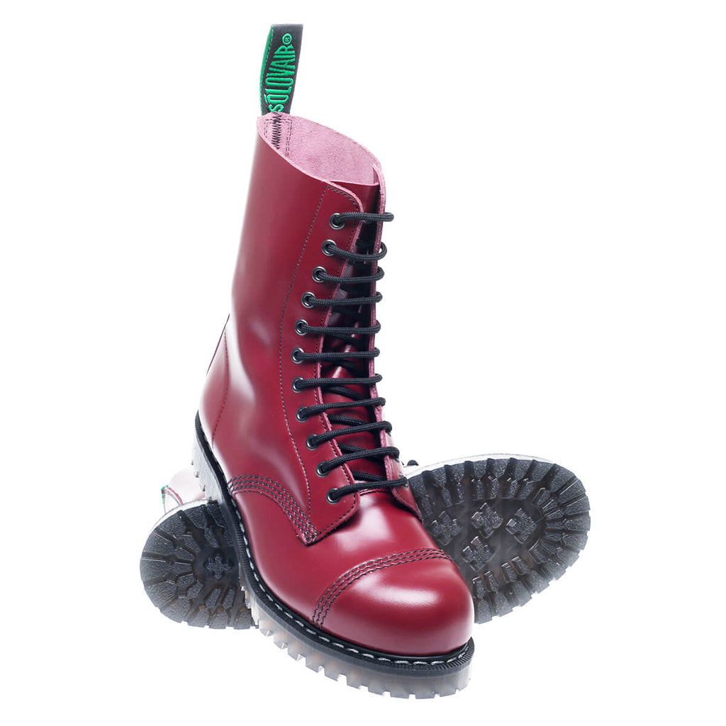 Cherry Red 11-eye Derby Boot