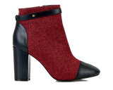 Chester Red Block Heel Boot