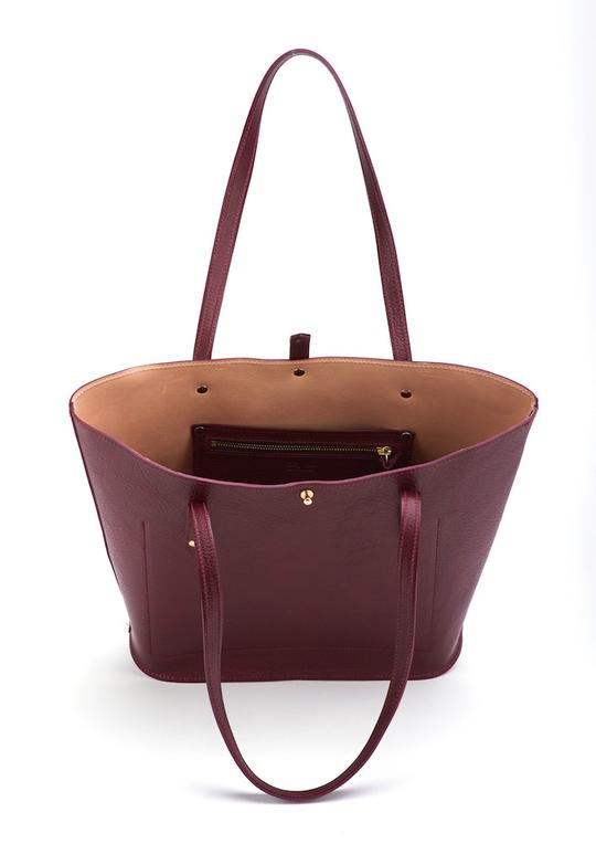 The Jessica Tote-Maroon