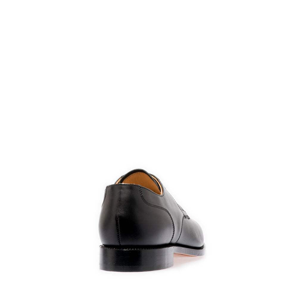 Black Gibson Shoes with Plain Vamp