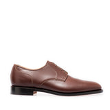 Brown Gibson Shoes with Plain Vamp