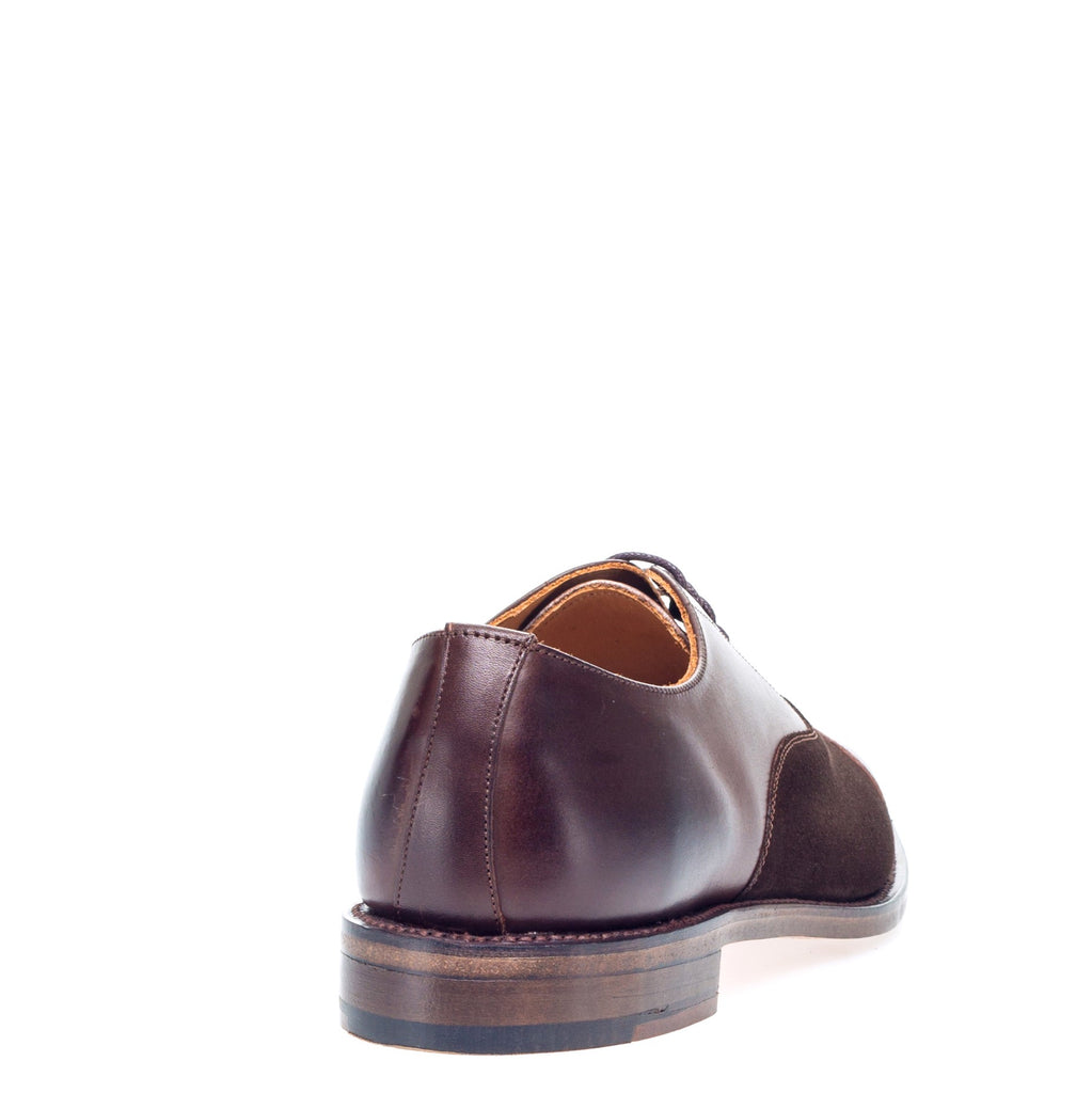 Mid Brown Capped Oxford Shoes