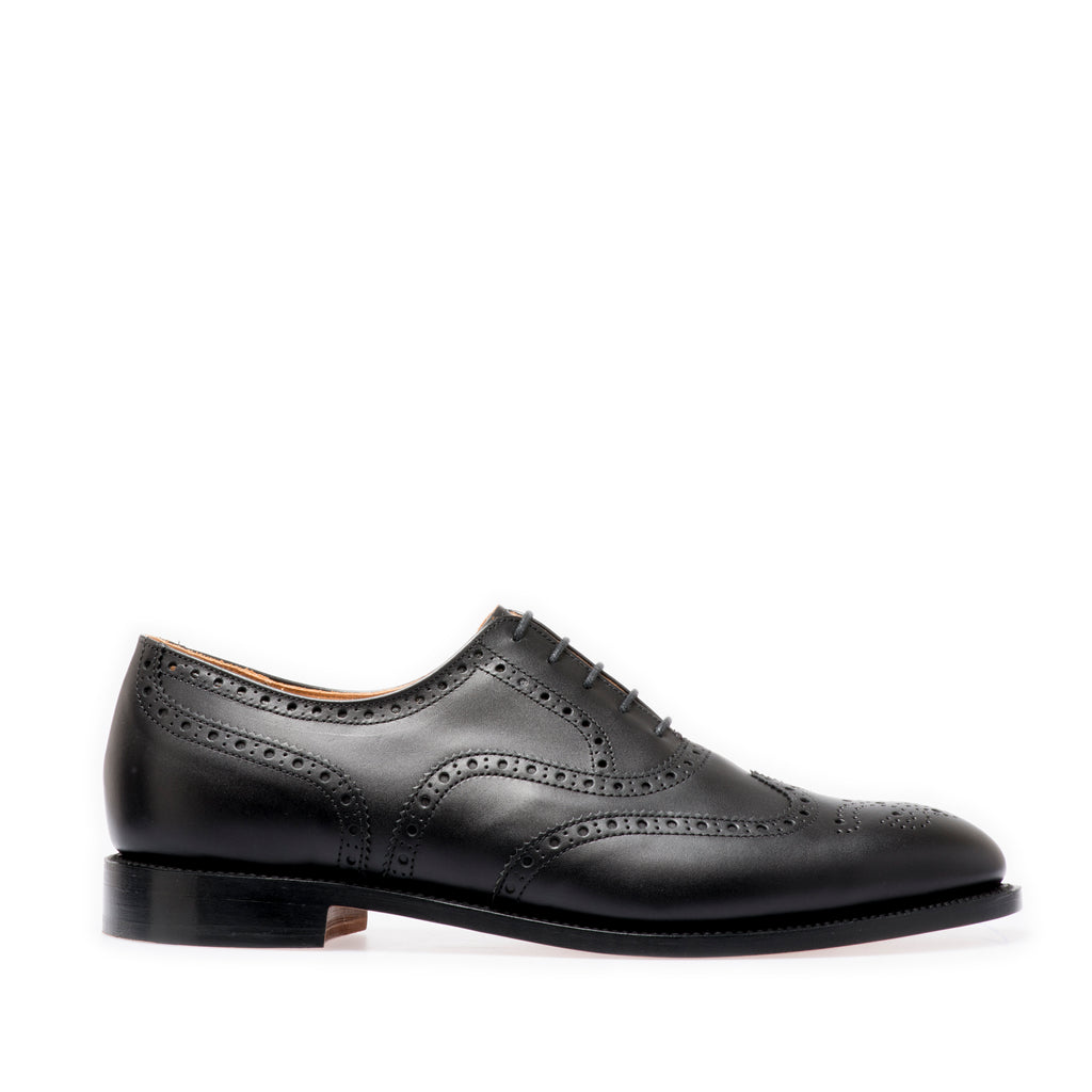 Black Brogue Oxford Shoes