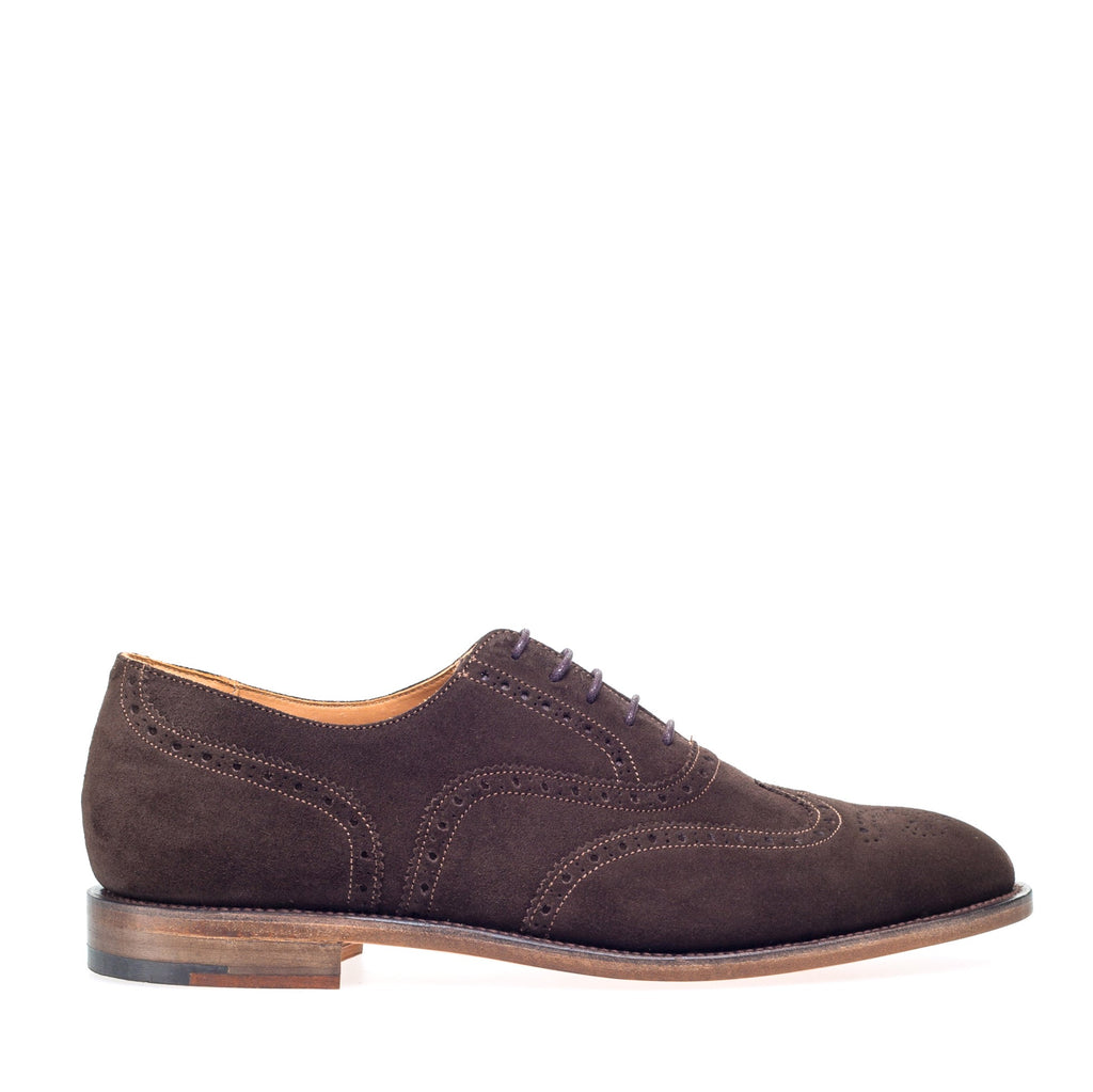 T.moro Brown Suede Brogue Oxford Shoes