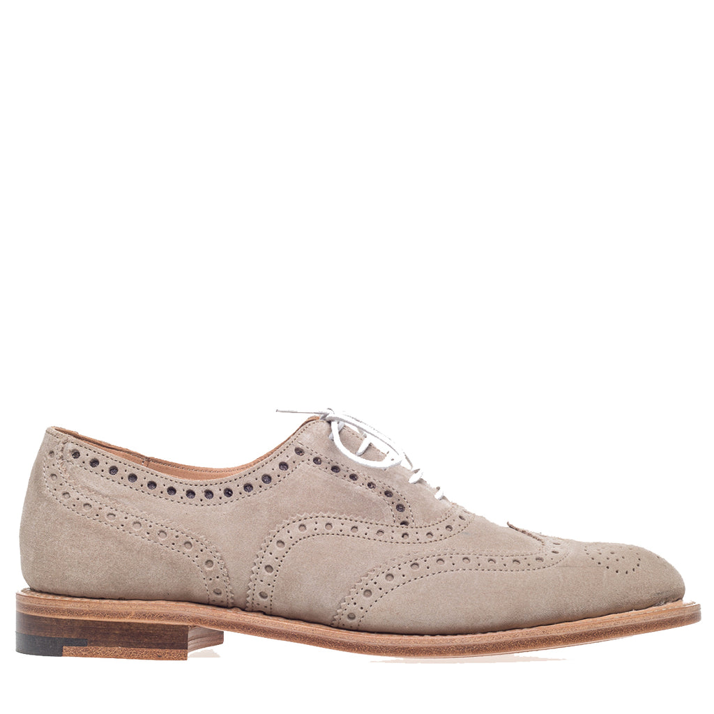 Sand Suede Brogue Oxford Shoes