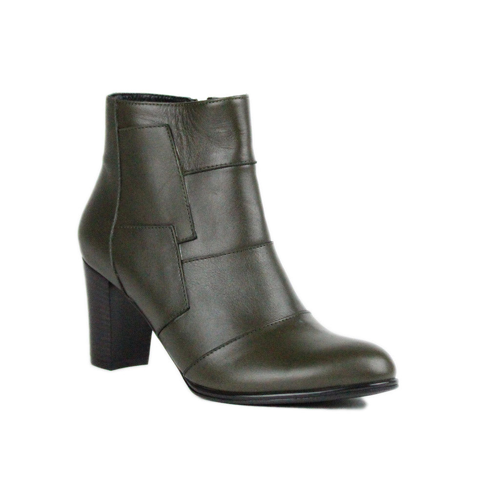 Green Women Leather Boots - 9.085.21