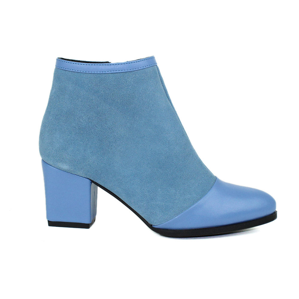 Blue Women Leather Boots - 9.082.14