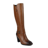 Tan Women Leather Long Boots - 9.078.19