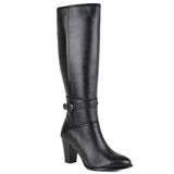 Black Women Leather Long Boots - 9.076.17