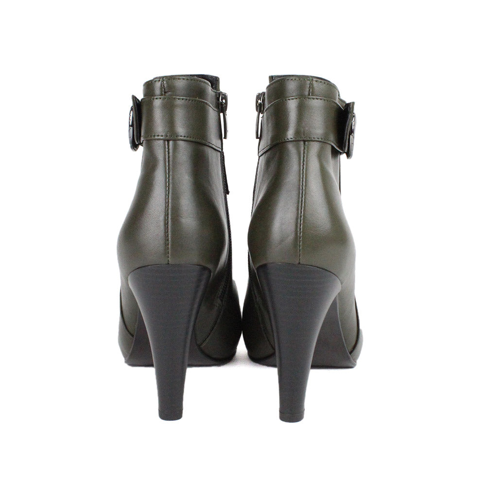 Green Women Leather Boots - 9.007.21