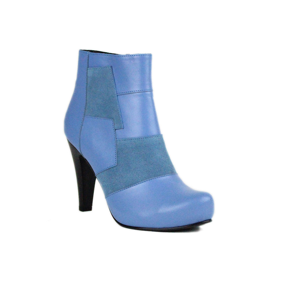 Blue Women Leather Boots - 9.006.14