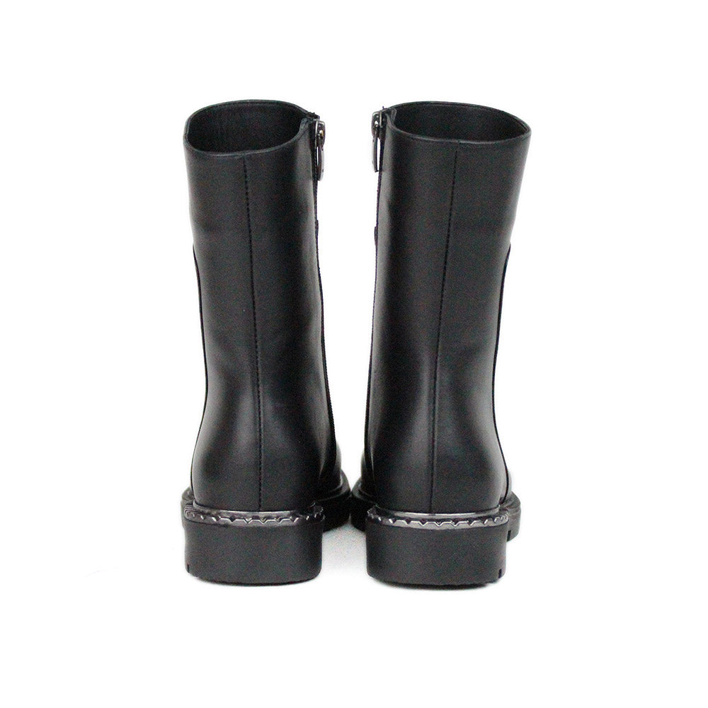Black Women Leather Long Boots - 5.053.17