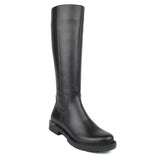 Black Women Leather Long Boots - 5.047.17