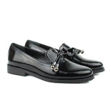 Black Women Leather Loafers Shoes - 5.020.17