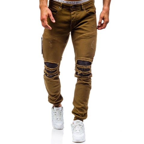 Men's Distressed Jeans Skinny Jeans