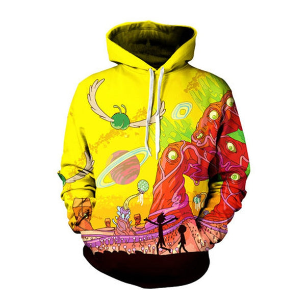 Cool Ricky And Morty Hooded Sweatshirt - Kostorm