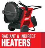 Radiant & Indirect Portable Heaters