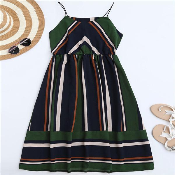 Azul Striped Midi Dress green / L GNTLMEN Australia GNTLMEN-JOSHBRNJAC