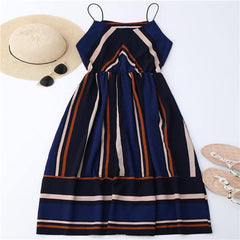 Azul Striped Midi Dress striped / L GNTLMEN Australia GNTLMEN-JOSHBRNJAC