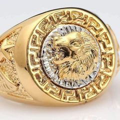 'BLING' Lion Encrusted Gold Mens Ring GNTLMEN Australia GNTLMEN-JOSHBRNJAC