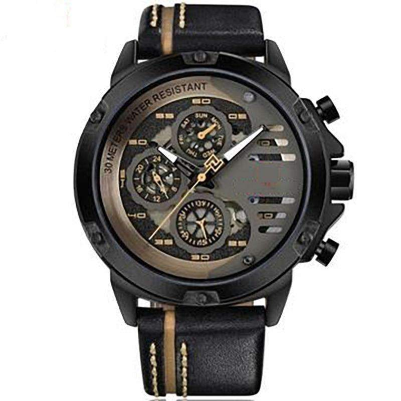 'CHRONO MULTI LEVEL' Luxury Chrono Watch black gold GNTLMEN Australia GNTLMEN-JOSHBRNJAC