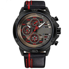 'CHRONO MULTI LEVEL' Luxury Chrono Watch black red GNTLMEN Australia GNTLMEN-JOSHBRNJAC