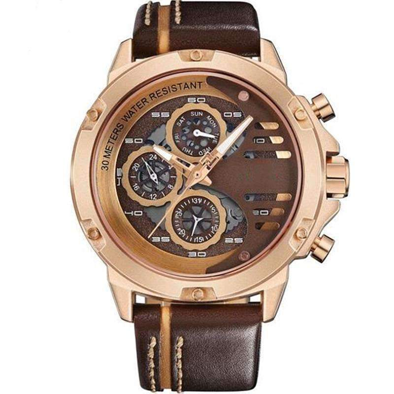 'CHRONO MULTI LEVEL' Luxury Chrono Watch gold brown GNTLMEN Australia GNTLMEN-JOSHBRNJAC