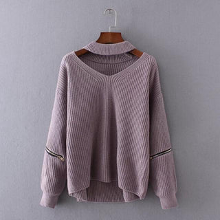 Chunky Knit Cut-Out Sweater Lavender / One Size GNTLMEN Australia GNTLMEN-JOSHBRNJAC