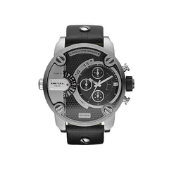 'GENUINE' DIESEL LITTLE DADDY D7256 Black (band) Silver (case) Black (inner) GNTLMEN Australia Diesel™ Watches GNTLMEN-JOSHBRNJAC