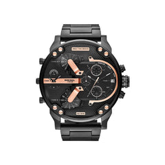 'GENUINE' DIESEL MR. DADDY 2.0 D7312 Black (band) Black (case)Rose Gold (inner) GNTLMEN Australia Diesel™ Watches GNTLMEN-JOSHBRNJAC