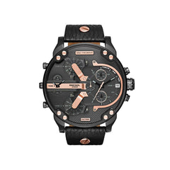 'GENUINE' DIESEL MR. DADDY 2.0 D7350 Black Leather (band) Black (case) Rose Gold (inner) GNTLMEN Australia Diesel™ Watches GNTLMEN-JOSHBRNJAC
