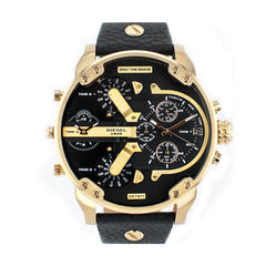 'GENUINE' DIESEL MR. DADDY 2.0 D7371 Black Leather (band) Gold (case) Gold (inner) GNTLMEN Australia Diesel™ Watches GNTLMEN-JOSHBRNJAC